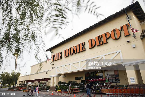 Home Depot Inc signage is displayed on the exterior of the company's store in Torrance California US on Friday May 13 2016 Home Depot is scheduled to...