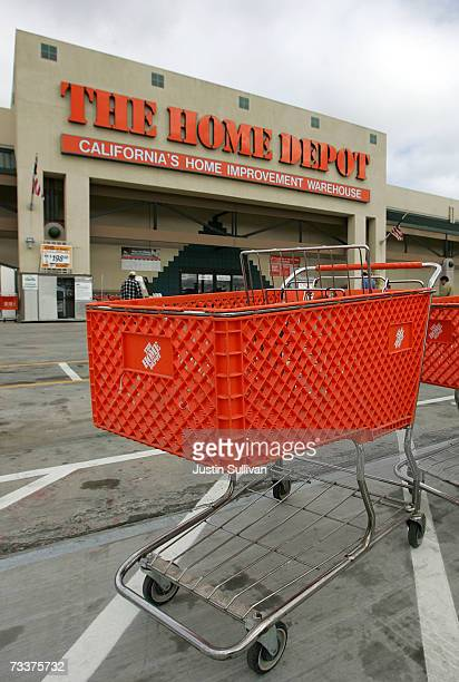 Home Depot shopping cart sits in the parking lot of the store February 20 2007 in San Rafael California Atlanta based Home Depot Inc reported a 28...