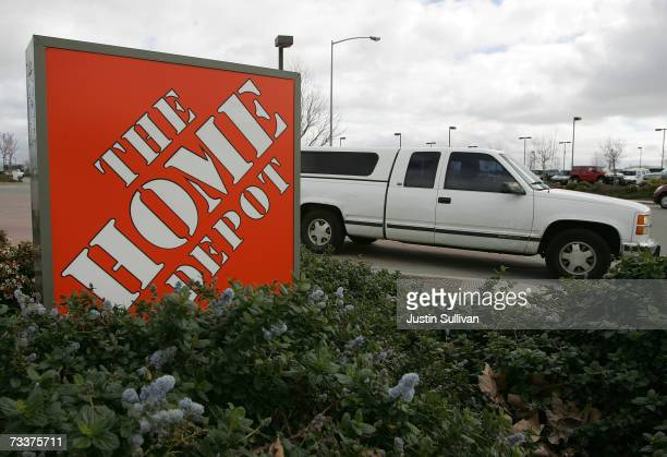 Home Depot sign sits outside the store February 20 2007 in San Rafael California Atlanta based Home Depot Inc reported a 28 percent drop in...