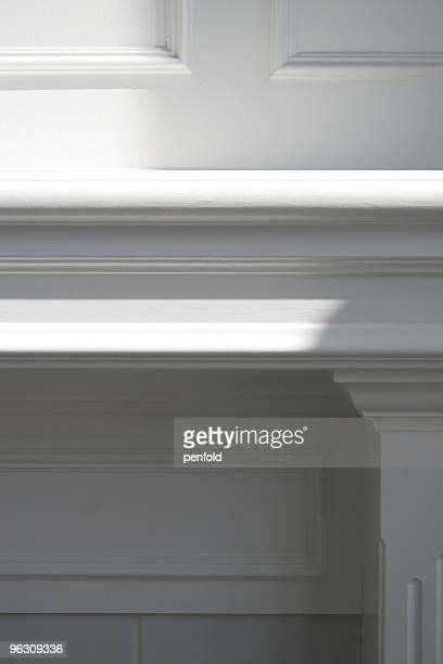detalhe da casa - consolo de lareira - fotografias e filmes do acervo