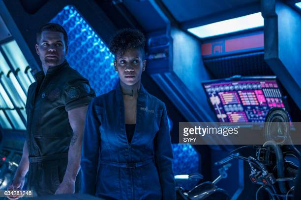 """Home"""" Episode 205 -- Pictured: Wes Chatham as Amos Burton, Dominique Tipper as Naomi Nagata --"""
