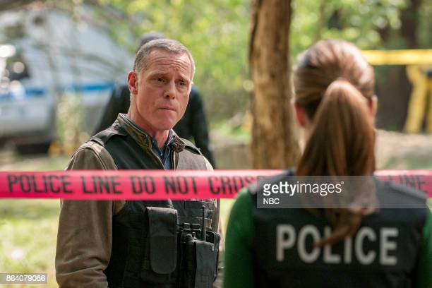 "Home"" Episode 505 -- Pictured: Jason Beghe as Hank Voight, Marina Squerciati as Kim Burgess --"