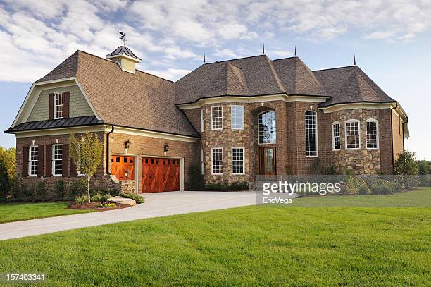 home exterior - stately home stock pictures, royalty-free photos & images