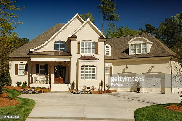 home exterior - brick house stock pictures, royalty-free photos & images