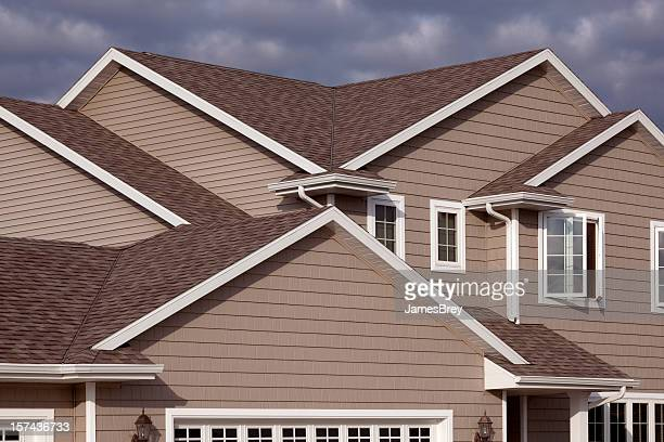 Home Exterior With Architectural Asphalt Shingle, Gabled Roof, Vinyl Siding