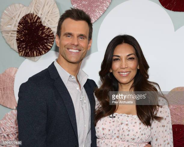 """Home & Family Host Cameron Mathison and his wife Vanessa Mathison on the set of Hallmark Channel's """"Home & Family"""" at Universal Studios Hollywood on..."""