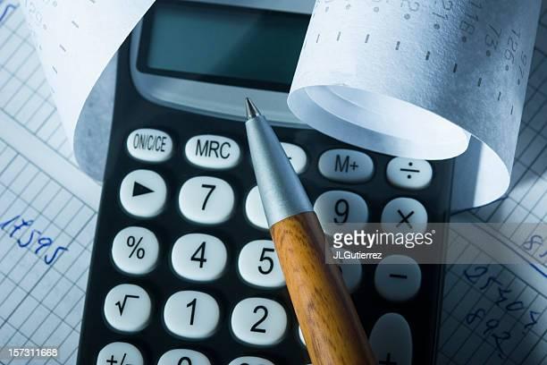haushaltskosten - addierrolle stock-fotos und bilder