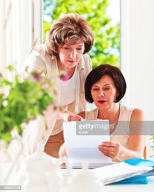 home finances - grandma invoice stock pictures, royalty-free photos & images