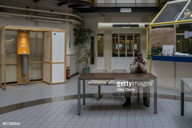 AMSTERDAM NETHERLANDS FEBRUARY Home for a community of 130 African refugees who live in a former prison called the 'Vluchthaven' The group calls...