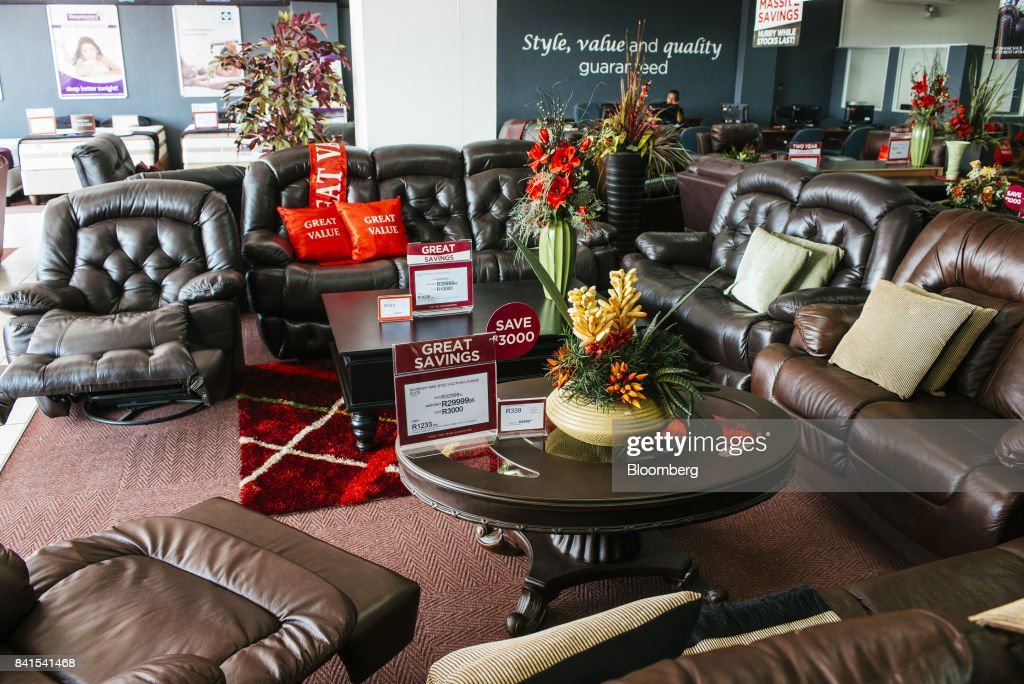 Home furnishings sit on display inside a Bradlows store, operated by Steinhoff International Holdings NV, in Johannesburg, South Africa, on Thursday, Aug. 31, 2017. Steinhoffsaid like-for-like sales rose 8 percent as the South African furniture and clothing retailer achieved gains in its core European and African markets. Photographer: Waldo Swiegers/Bloomberg via Getty Images