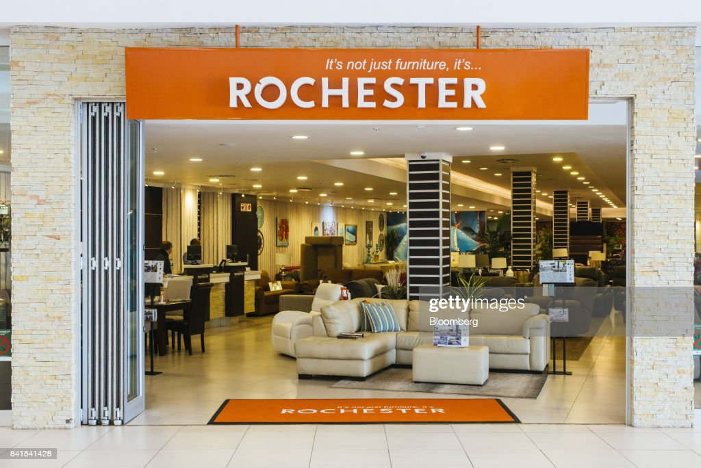 Home Furnishings Sit On Display Inside A Rochester Furniture Store Operated  By Steinhoff International Holdings NV