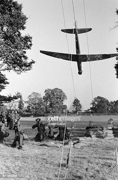 Home Guardsmen learn to shoot down enemy aircraft at the War Office Training School in Osterley Park Surrey 21st September 1940 Original Publication...