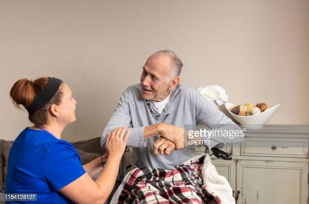home healthcare - hospice stock pictures, royalty-free photos & images
