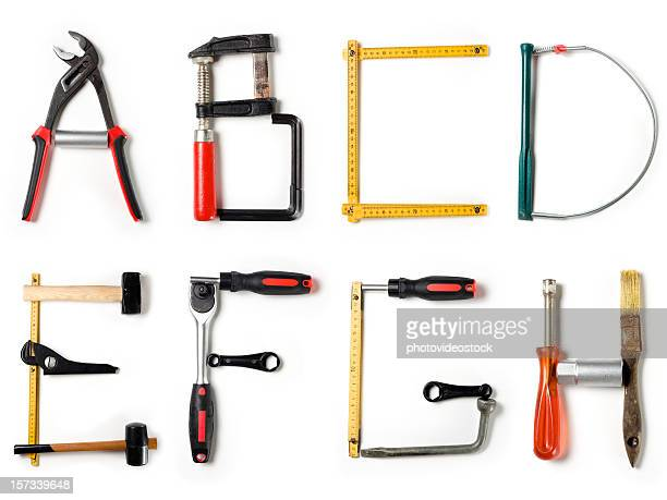 xxl home improvement alphabet - font stock pictures, royalty-free photos & images