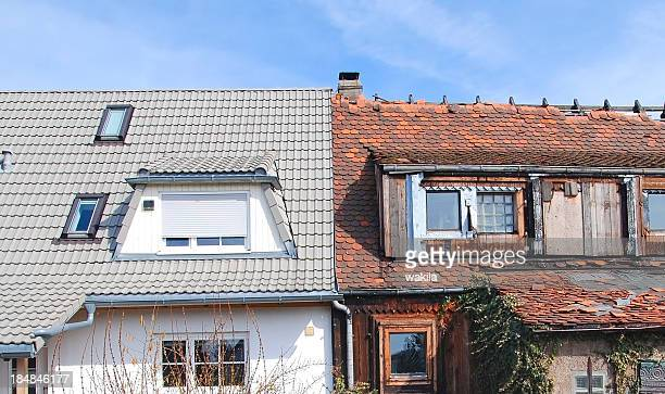 renovierung und modernisierung vorher nachher - decoration stock-fotos und bilder