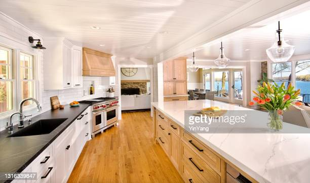 home improvement remodeled contemporary kitchen design in residential home - istock images stock pictures, royalty-free photos & images