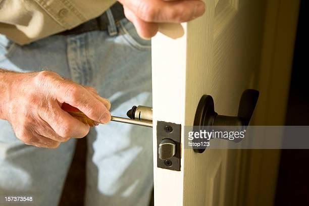 Home Improvements replacing door knob