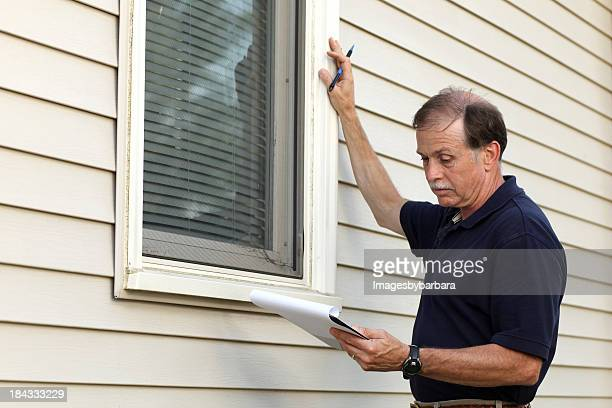 Home Inspection of a window frame structure