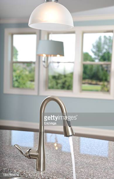 Home Interior Kitchen With Water Faucet