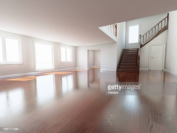 home interior - floorboard stock photos and pictures