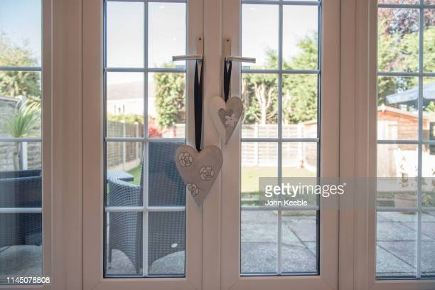 home interiors - patio doors stock pictures, royalty-free photos & images