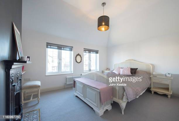 home interiors - bedroom stock pictures, royalty-free photos & images