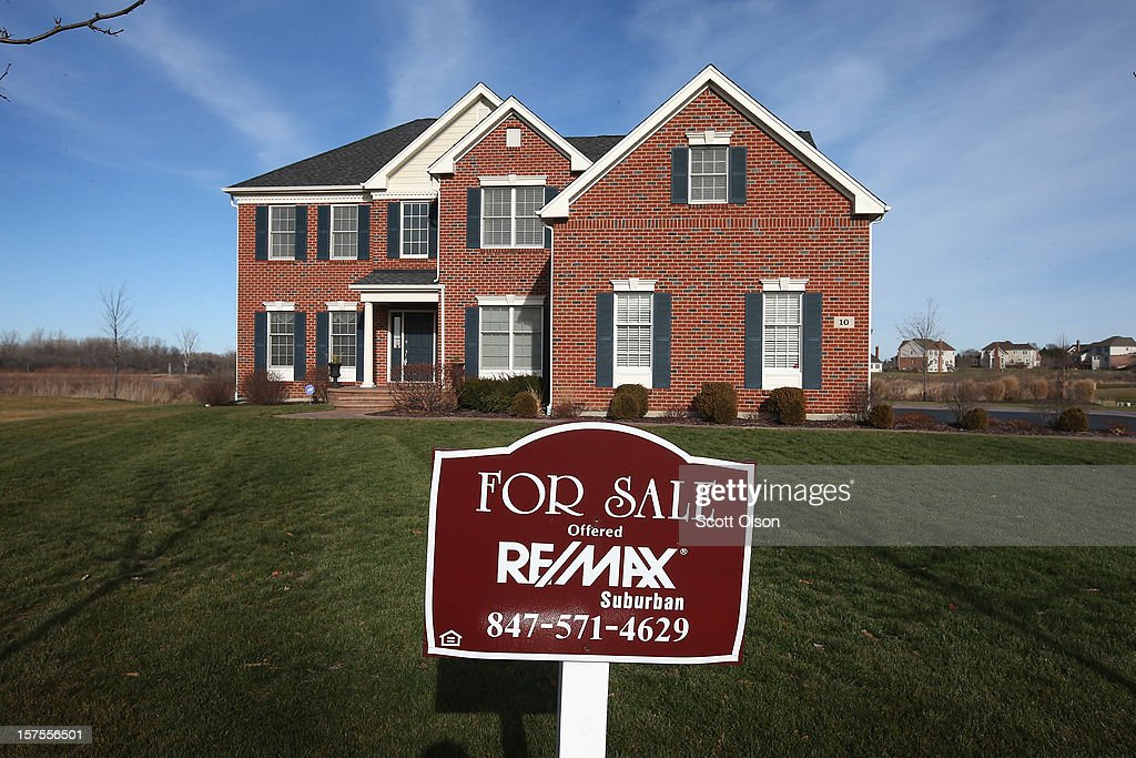 A home is offered for sale by Remax Realty in a Toll Brothers housing development on December 4, 2012 in South Barrington, Illinois. Toll Brothers beat fiscal fourth-quarter earnings expectations which CEO Douglas Yearley Jr. attributed to an increase in home prices, low interest rates and a pent up demand. Nationwide home prices increased 6.3% in October from a year earlier, the biggest year-over-year gain since 2006.