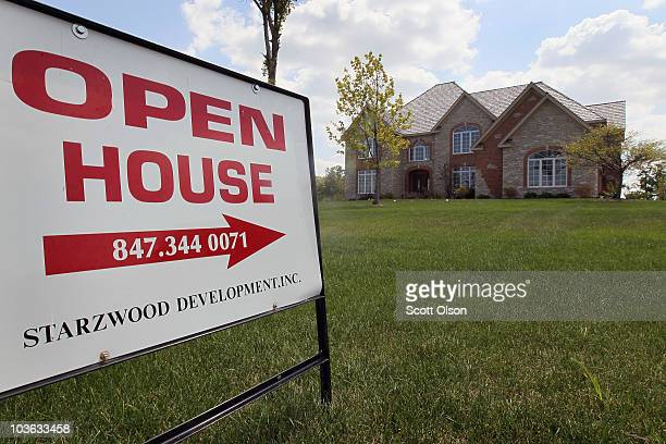 A home is offered for sale by the developer in the Countryside Meadows subdivision on August 25 2010 in Hawthorn Woods Illinois The sales of new...