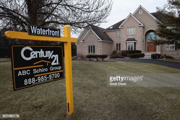 A home is offered for sale on February 21 2018 in South Barrington Illinois January home sales experienced a sharp drop over the same period last...