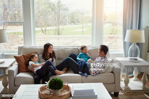 home is where love lives - family home stock photos and pictures