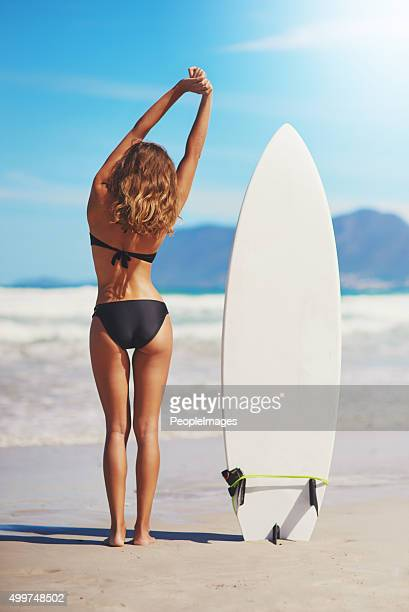 home is where the waves are - beautiful beach babes stock photos and pictures