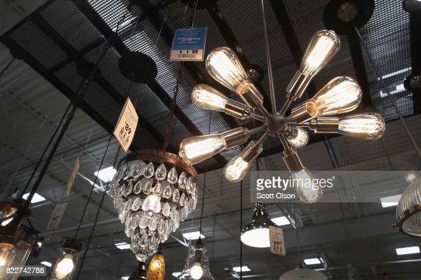 Home lighting is offered for sale at a Lowe's home improvement store on July 25 2017 in Chicago Illinois A shortage of new singlefamily homes in the...