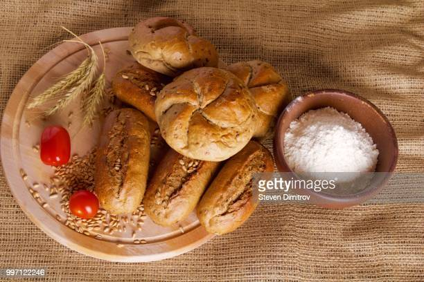 Home made bread with flour