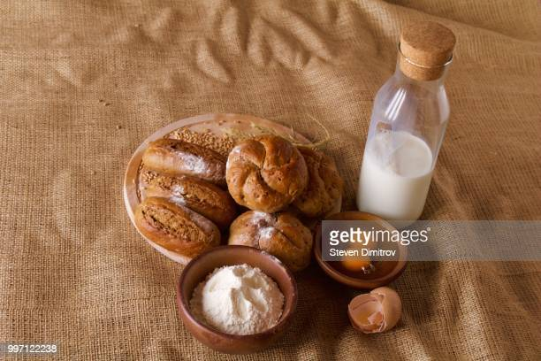 Home made bread with milk and eggs