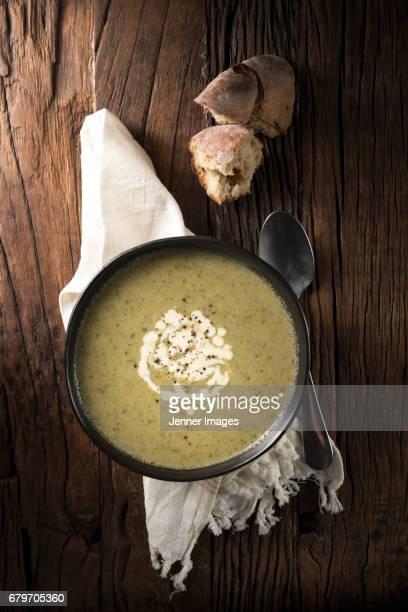 Home made Broccoli, Cauliflower And Stilton Soup.