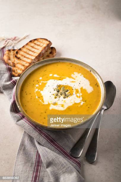 Home Made carrot Soup With Coriander.