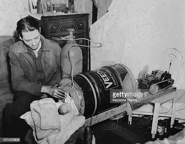 Home Made Iron Lung For A Premature Baby At Chicago In Usa On December 3Rd 1940
