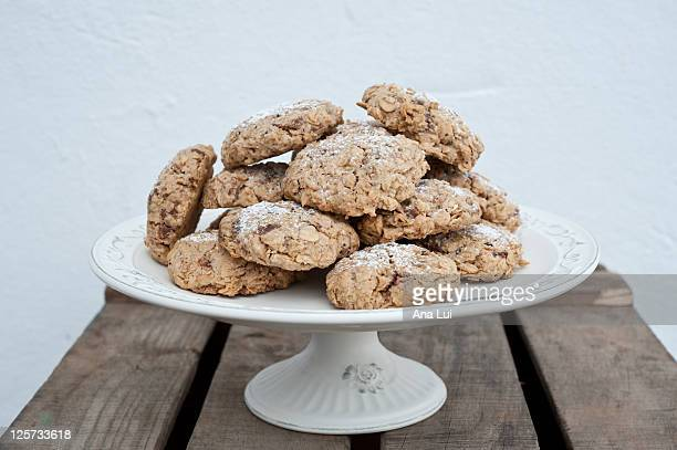 Home made oat biscuits