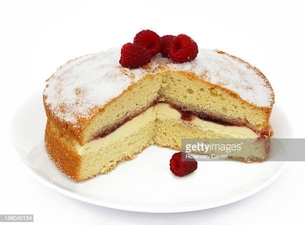 Home made Victoria sponge cake