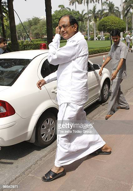 Home Minister P Chidambaram at Parliament House in New Delhi on Friday May 7 2010