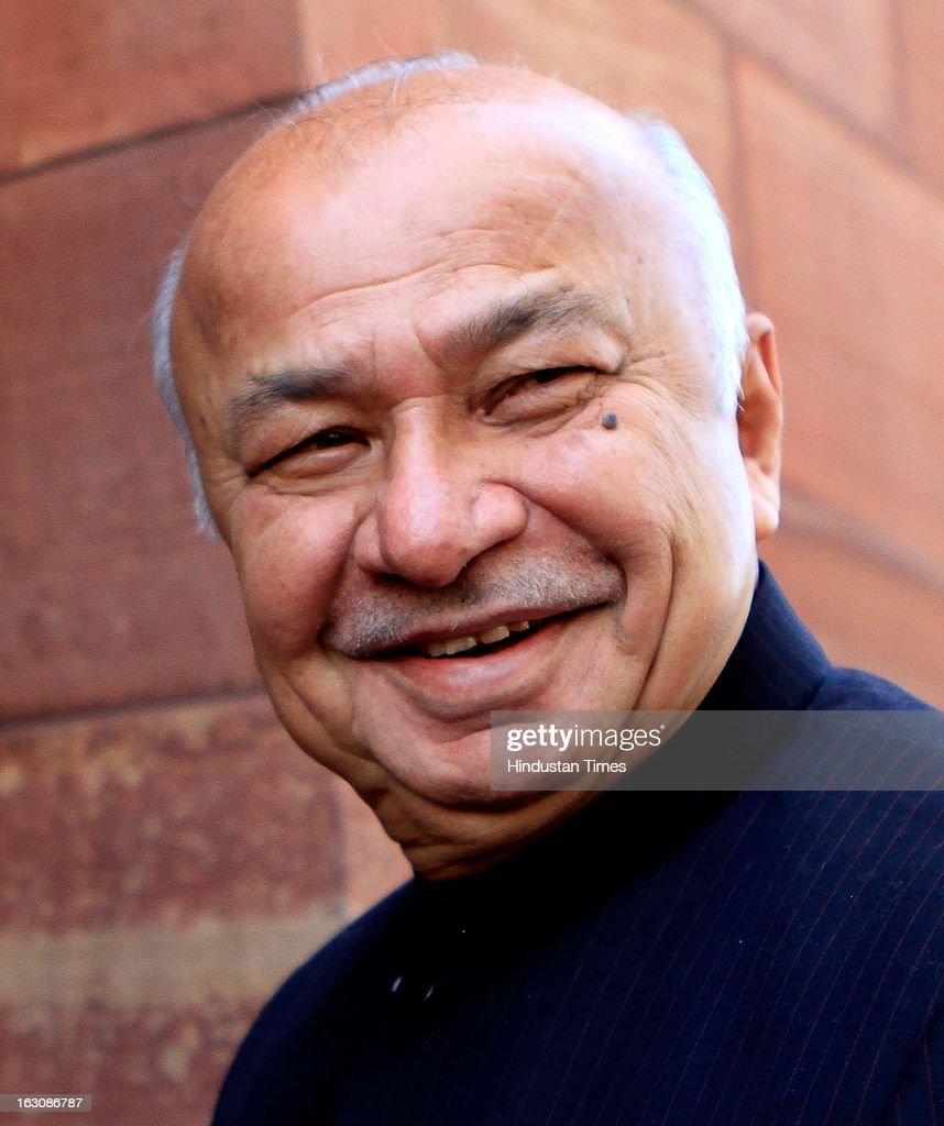 Home Minister Sushilkumar Shinde at Parliament during the Budget session on March 4, 2013 in New Delhi, India. Parliament failed to transact any business today as the Opposition members created uproar over hike in fuel prices and demanded immediate rollback.