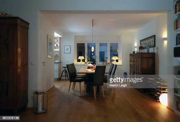 home moments - dining room stock photos and pictures