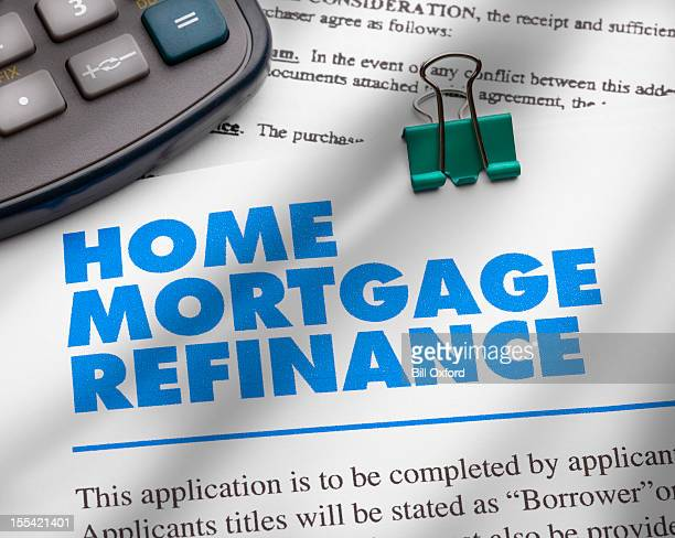 home mortgage refinance - mortgage stock pictures, royalty-free photos & images