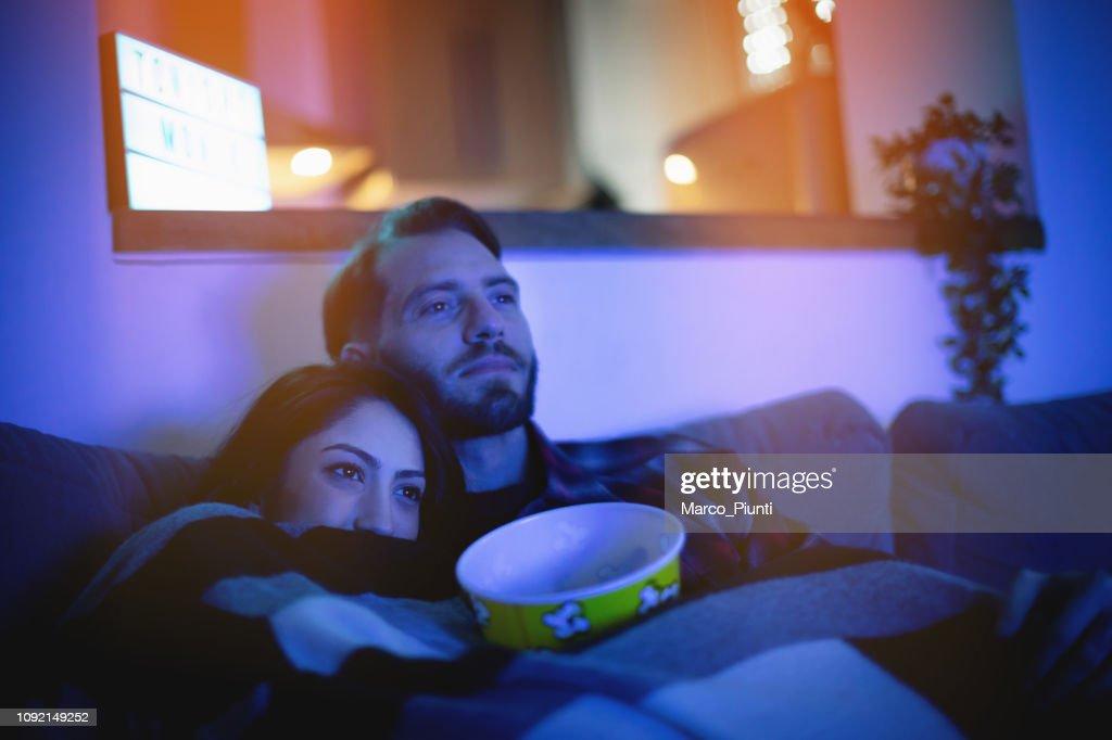 Home movie stasera : Foto stock