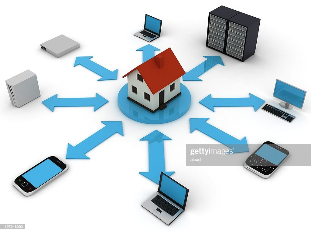 Home Network Stock Photo | Getty Images