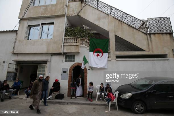 Home of Algerian copilot Sadiki Mahrez who died in the plane crash is seen in Algiers Algeria on April 13 2018 At least 257 people were killed when...