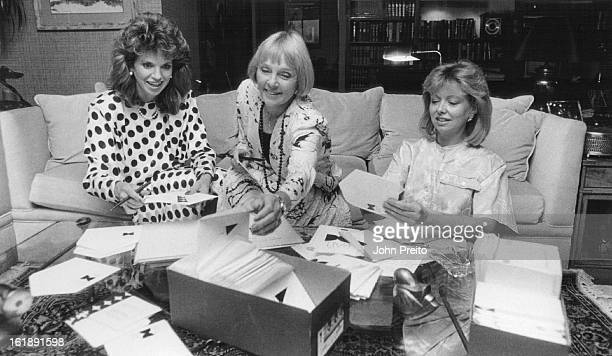 8/12/1986 AUG 24 1986 OCT 5 1987 Home of Betty Deerings Prono For DCO Black and White Ball Cynthia Grassby Baker Ticket ChairmanBetty Deering Black...