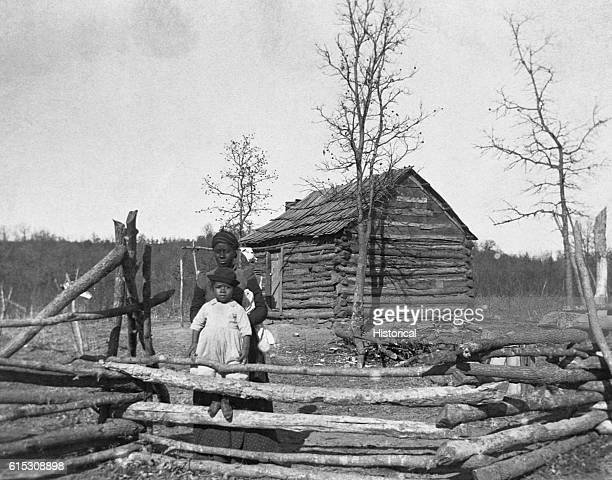 Home of Creek Freedmen. This was Native American territory where African-Americans escaping slavery were welcomed. Oklahoma Territory, ca. 1900.