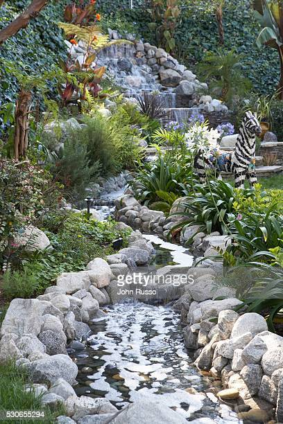 Home of David James Elliott: Backyard Water Feature