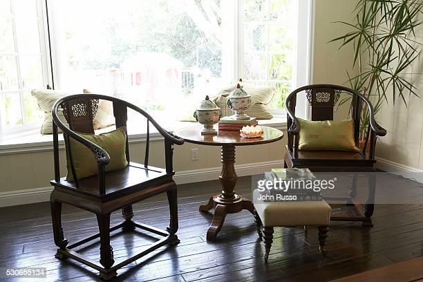 Chinese Round Back Chairs